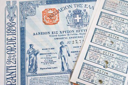 anleihe: Ein griechischer Anleihe aus den 1930er Jahren