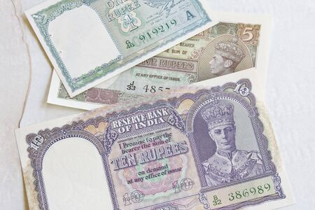 Indian rupees dating from the 1940s photo