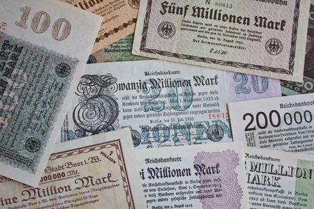 reparations: Billetes de la alta inflaci�n en el per�odo de 1920 Alemania