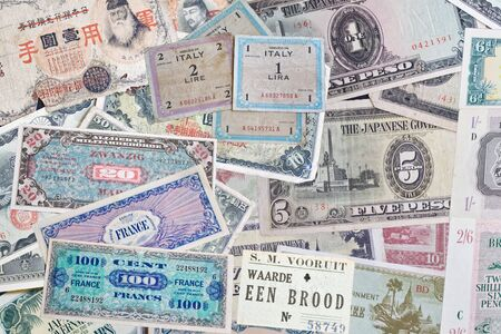 occupied: Banknotes issued to occupied countries in the Second World War