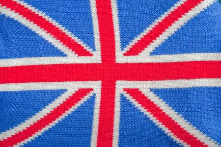 The national flag (Union Jack) of the United Kingdom knitted photo