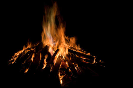 guy fawkes night: Un falò per celebrare Bonfire o Guy Fawkes Notte in Gran Bretagna Archivio Fotografico