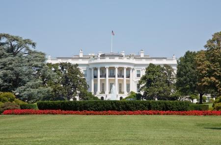 Los jardines de la Casa Blanca en Washington DC