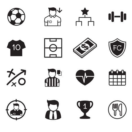 soccer: Soccer  football club vector buttons set