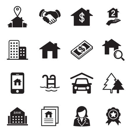 property management: Real estate icons Vector illustration symbol set