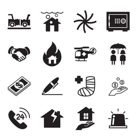 house insurance: Insurance Icons Vector illustration Symbol Set