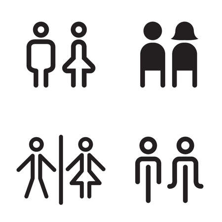 man and woman sex: toilet icon great for any use. Vector illustration  symbol set Stock Photo