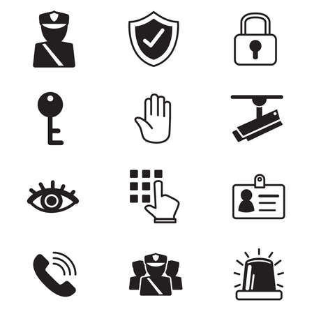 password security: security icons set Vector Illustration Stock Photo