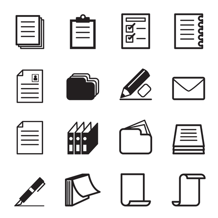 papier a lettre: Papeterie Papier ic�ne Set