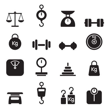scales: Weight icon set Illustration