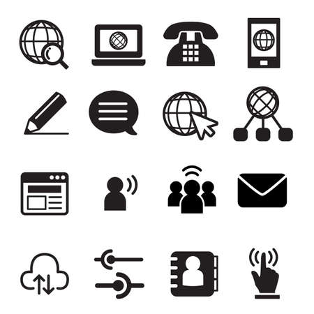 speech buble: Website communication icon