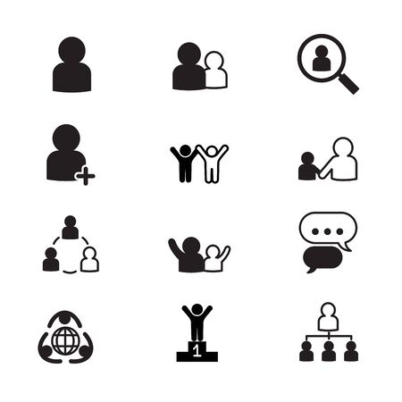 resource management: human resource management icons set