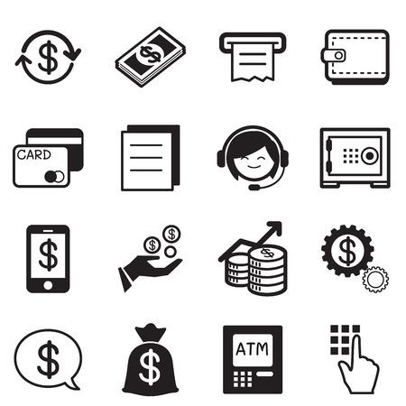 cash receipt: Finance  banking icons, credit card, atm Illustration Vector Symbol