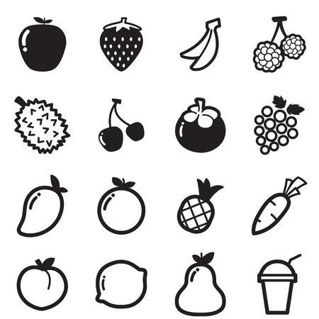 icônes de fruits vecteur symbole d'illustration