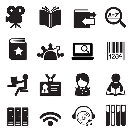 dvd room: Library icons Vector illustration symbol 2