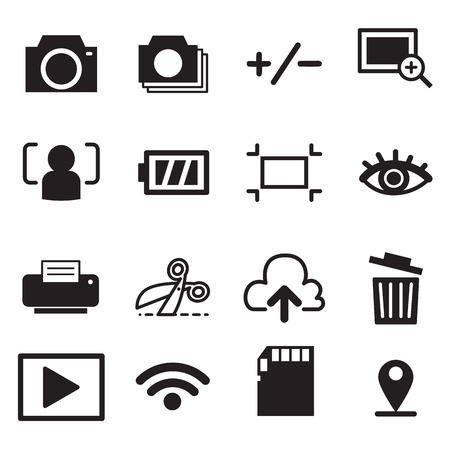 Camera mode icons illustration symbol Vector Illustration