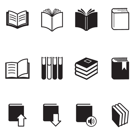 e magazine: Book icons Vector Illustration Illustration