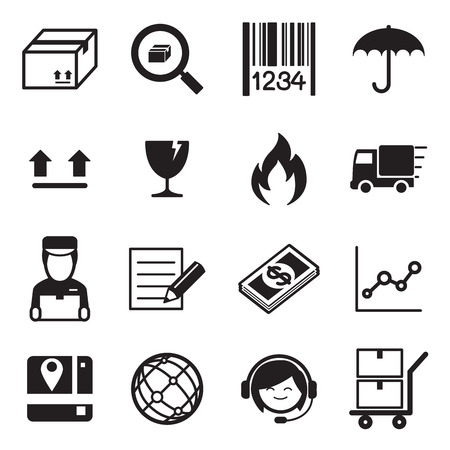 delivery icon: Logistic  delivery icon set Vector illustration. Illustration