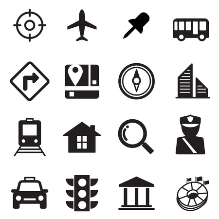 residential zone: Map icons set