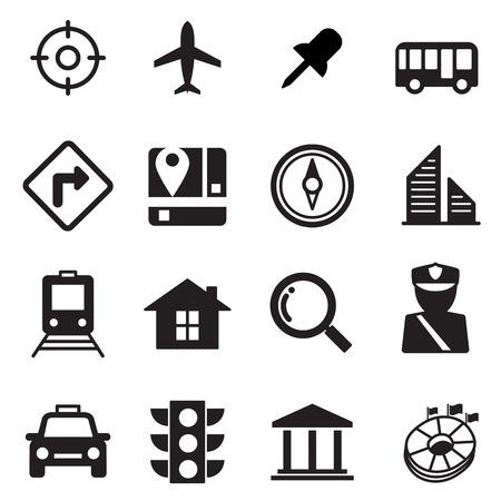 Map icons set