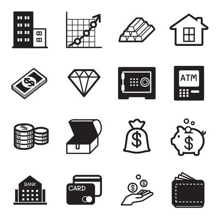 asset: asset icons Set Illustration