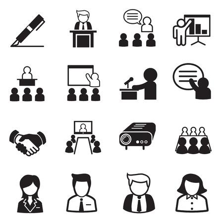 liderazgo empresarial: iconos de gestión empresarial