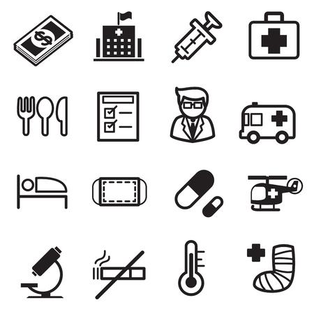 splint: Hospital icons set Illustration