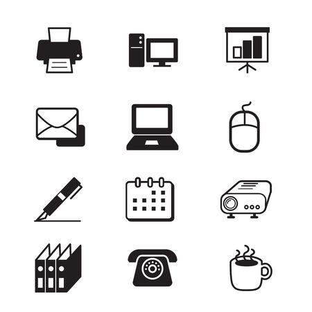 simplify: Business office tools icon set Illustration