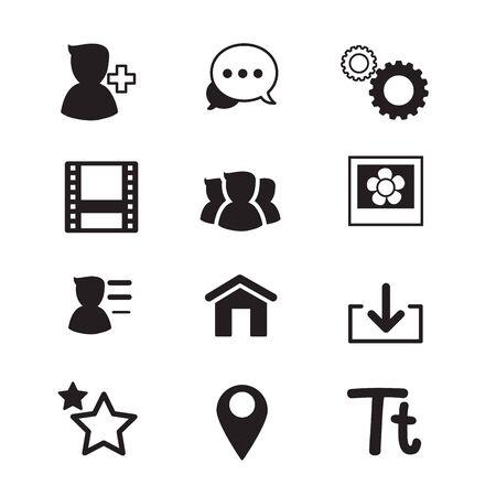 users video: Social Network icons set Vector illustration Illustration