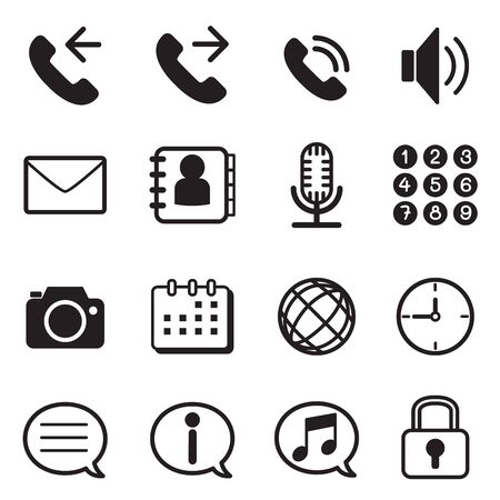 mobile application: mobile phone  smartphone application icons set