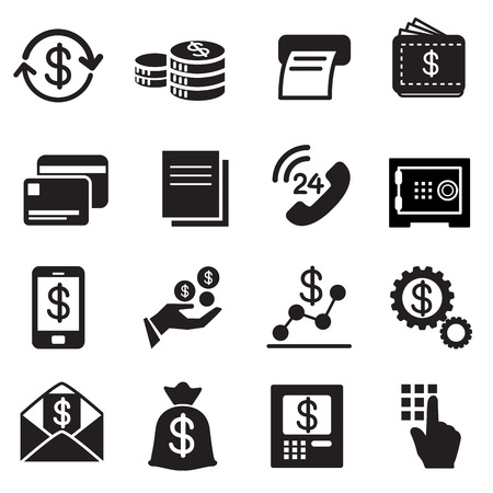income: Business , finance, Investment icons Set