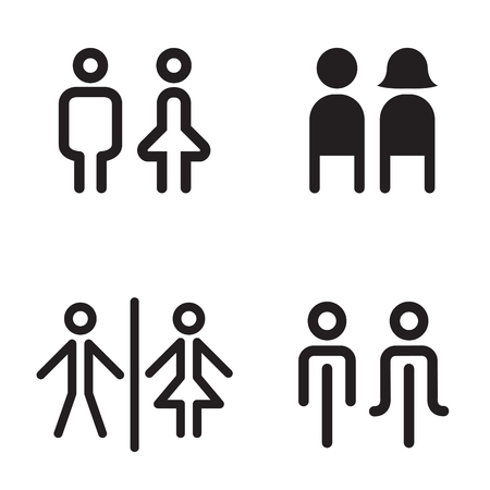 female sex: toilet , Restroom icons great for any use. Vector illustration symbol