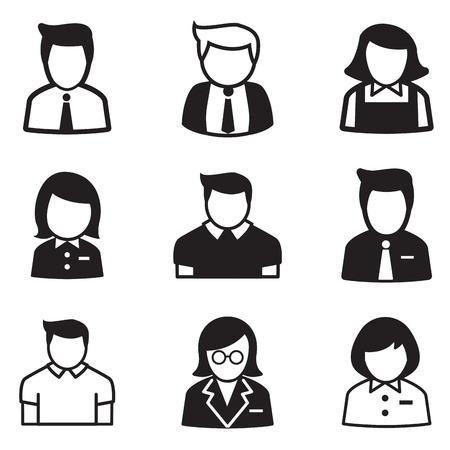 user,account, staff, employee maid icons vector illustration Symbol Illusztráció