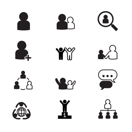resource management: human resource management icons set