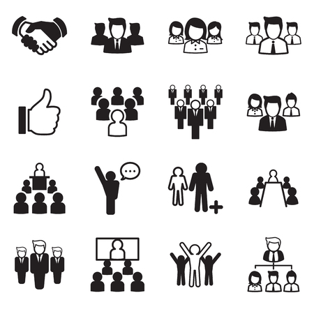 business team: Business Team icon set