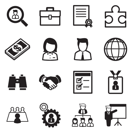 job search: Job icon Set Illustration