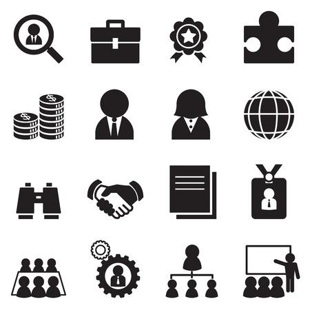 Job icon Set Vectores