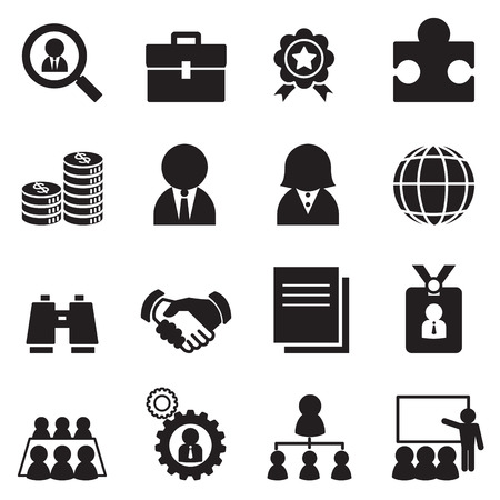 pictogram people: Job icon Set Illustration
