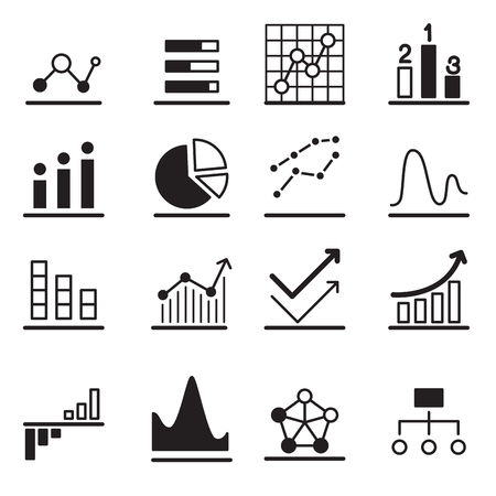 analytic: Analytic Graph icon Set