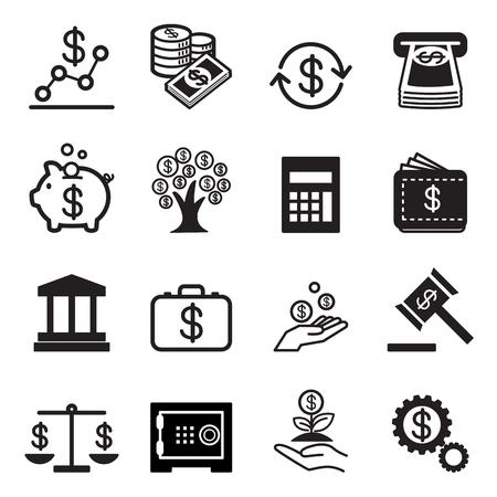Geschäfts- und Finanzikonen Set Standard-Bild - 52041817