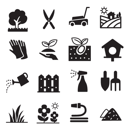 sprinklers: silhouette Lawn icons