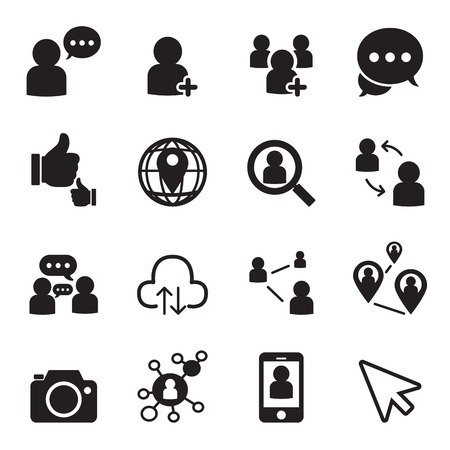 business relationship: Social network icons
