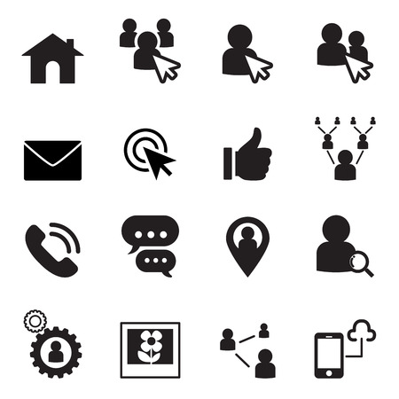 Social Network icon set 免版税图像 - 52042581