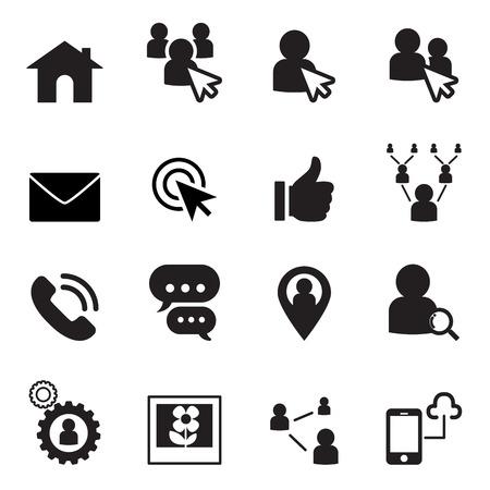 double click: Social Network icon set