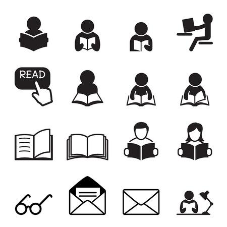 mujer leyendo libro: icono de la lectura
