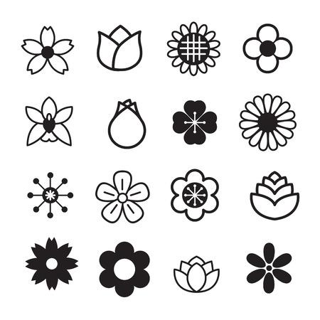 flor de sakura: Flor iconos
