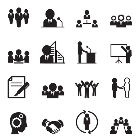 Business idea concept icons