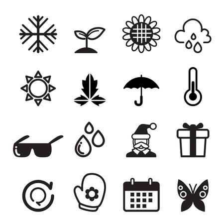 four: Season icon set