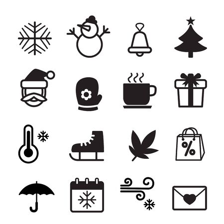 winter season: Winter Season icon  symbol set