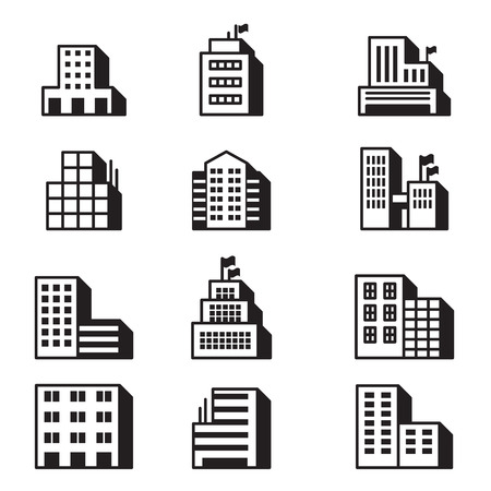 residential zone: Building icons Vector illustration symbol set Illustration